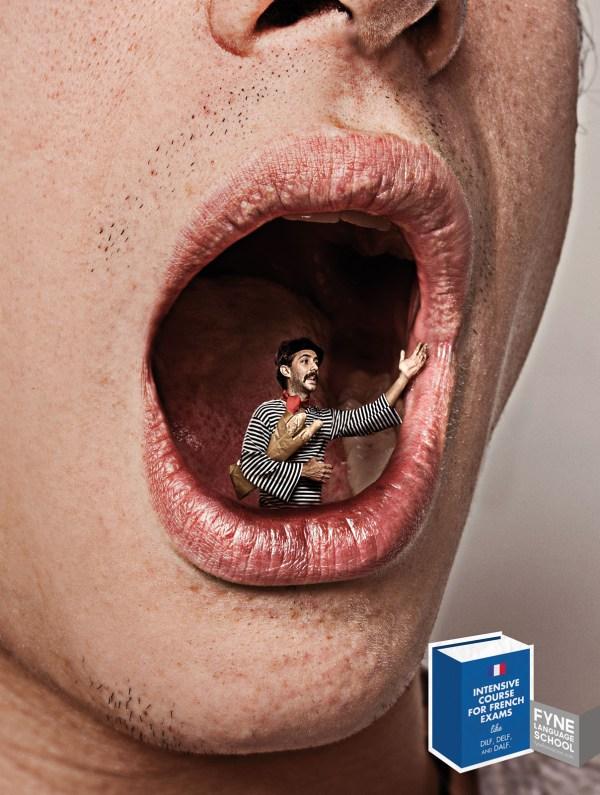 Принты реклама языкового центра