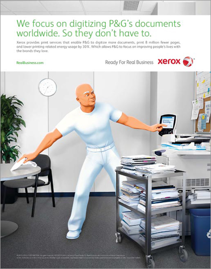 "Xerox ""Ready for Real Business"" campaign"