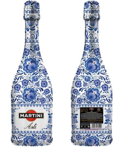 Авторский дизайн для бутылок Martini