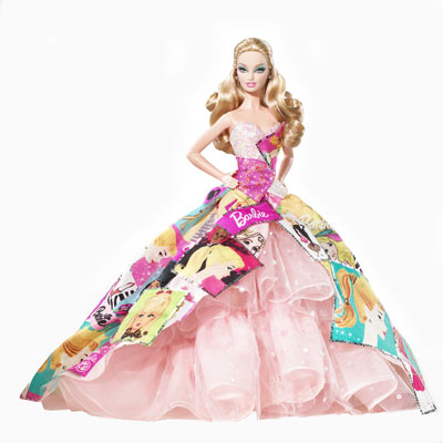 Pr кампания 40 летней куклы barbie